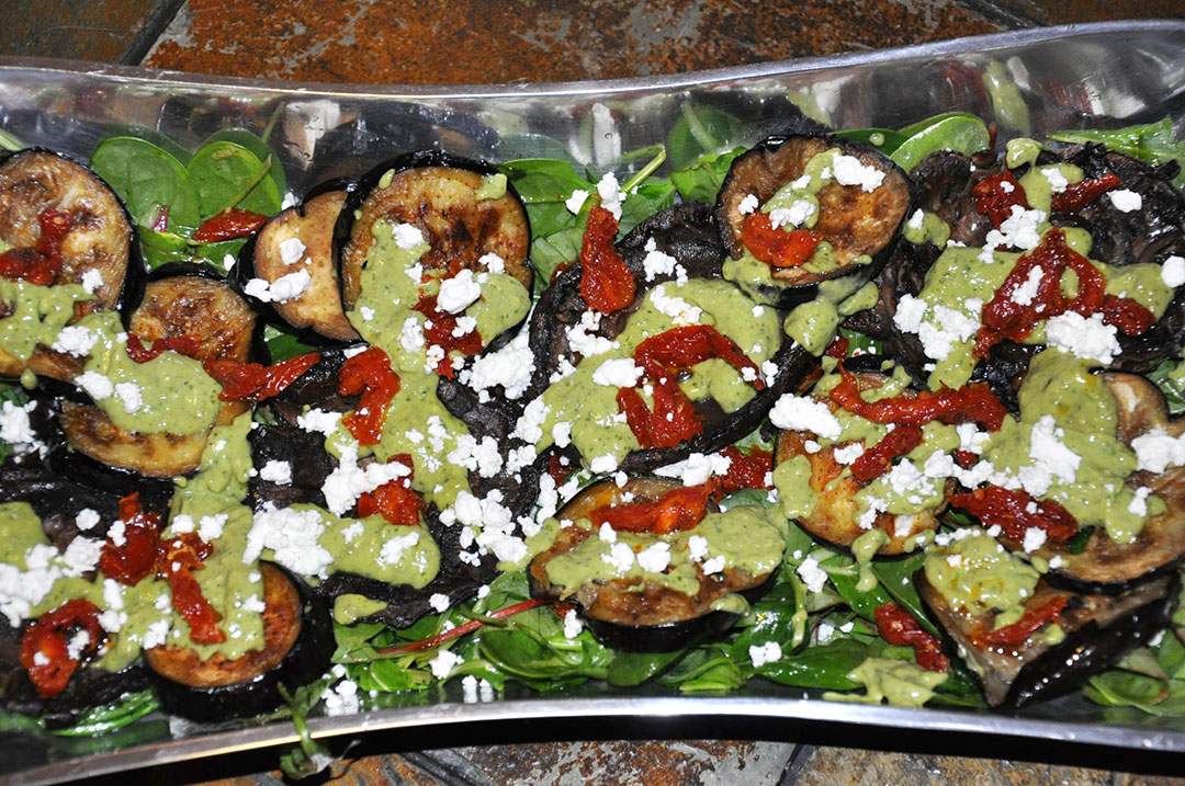 ROASTED EGGPLANT AND PORTABELLA MUSHROOM SALAD